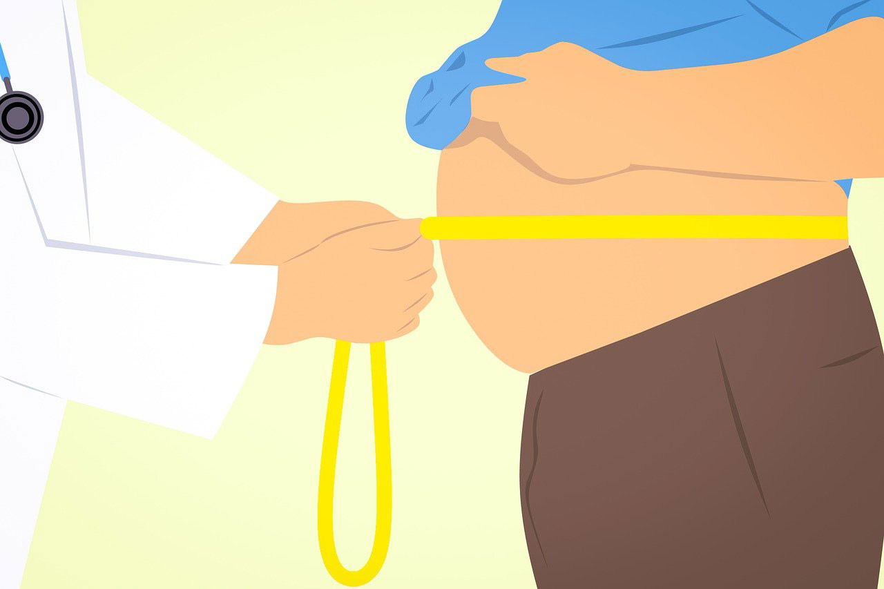 Overweight Man Measuring Belly - Weight Effect on Penis Size